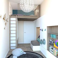 Beispiel kleine Wohnung Kinderzimmer