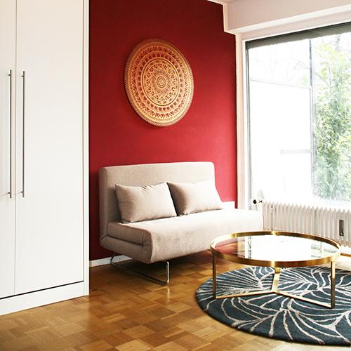 Beispiel 1 Zimmer Wohnung einrichten Tiny House Strategie 500