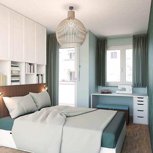 Beispiel kleine Wohnung Schlafzimmer